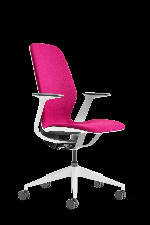 image d'une chaise silq de steelcase en rose
