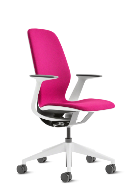 chaise silq de steelcase en rose